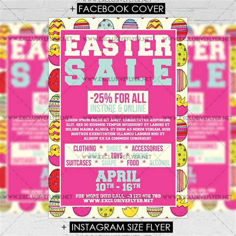 easter flyer template easter sale premium a5 flyer template exclsiveflyer