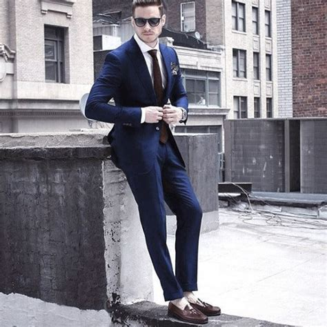 Navy Style top 60 best navy blue suit brown shoes styles for