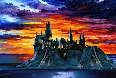 Harry Potter Home Decor Hogwarts Sunset Digital Art By Midex Planet