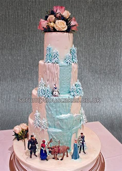 frozen themed wedding cake cakecentral