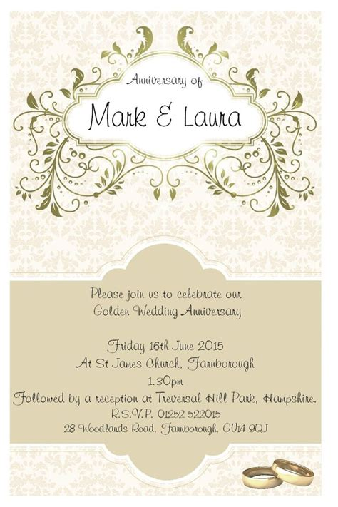 Wedding Anniversary Date Ideas by 25 Best Ideas About Anniversary Invitations On