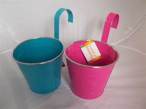 novelty home decor bright coloured bucket style planters novelty garden
