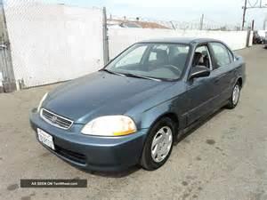 1996 Honda Civic Sedan 1996 Honda Civic Lx Sedan 4 Door 1 6l