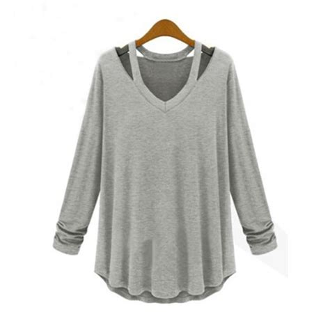 Mo 632 Longsleeve Top s 5xl zanzea v neck plus size tops sleeve t shirt casual blouse ebay