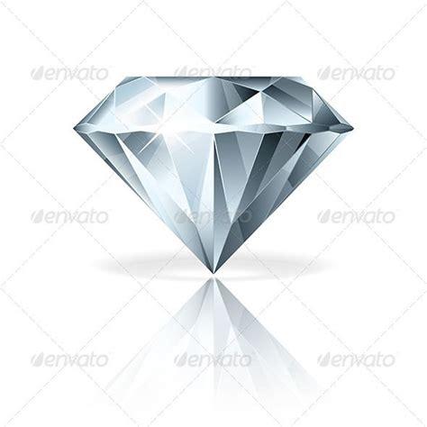 diamond tattoo vector diamond isolated on white vector illustration reflection