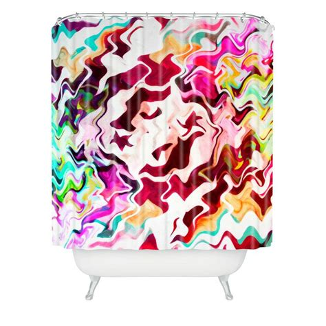 Graffiti Shower Curtain by Caleb Troy Melted Graffiti Shower Curtain