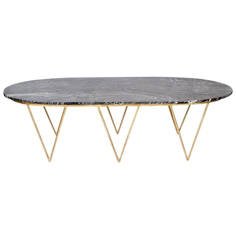 Elaine Hollywood Regency Gold Black Marble Coffee Table   Kathy Kuo Home