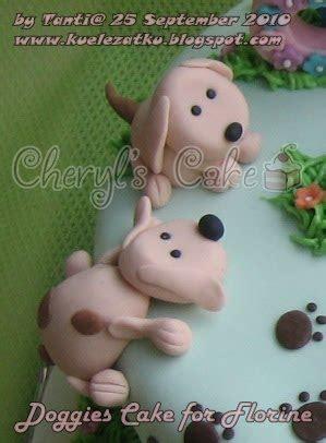 kue ulang  anak cupcake birthday cake doggy cake