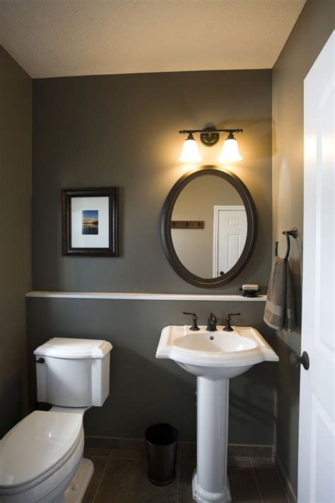 dark paint in bathroom dark sink fixtures powder room small powder room design