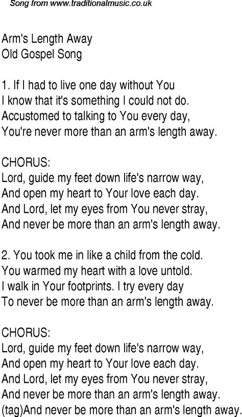 song christian arm s length away christian gospel song lyrics and chords