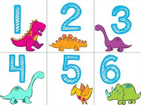 Vans Gift Card Number - 1 20 dino number cards free dinosaur activities for kids pinterest