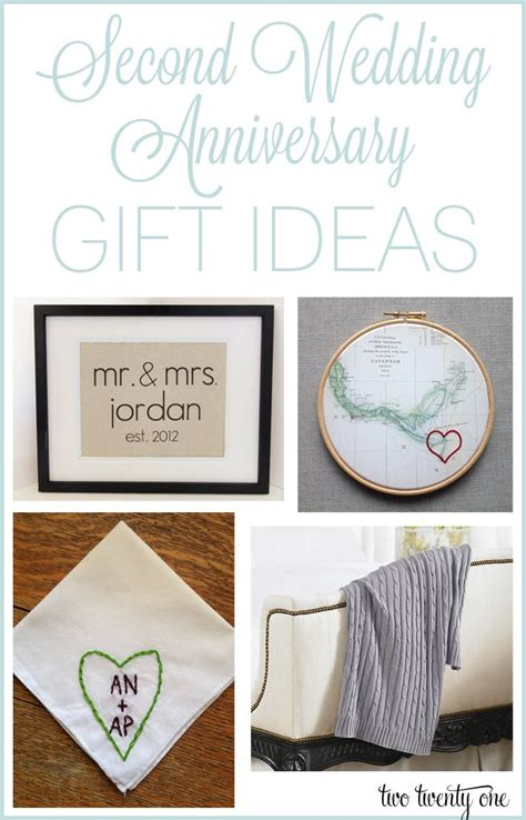 second anniversary gift ideas