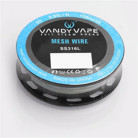 Mesh Wire By Vandy Vape Authentic authentic vandy vape ss316l mesh wire 0 9 ohm wire for