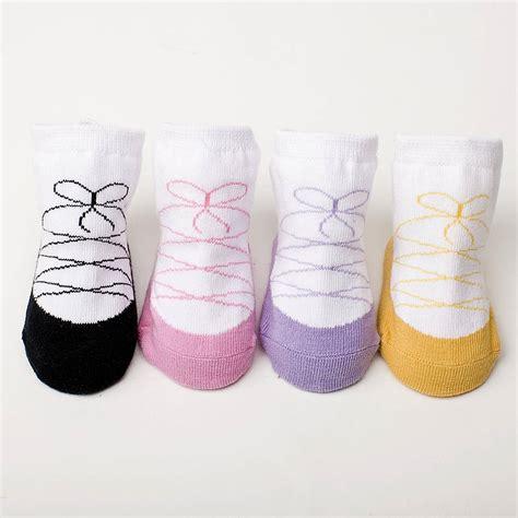 baby sock set of four ballerina baby socks by diddywear notonthehighstreet