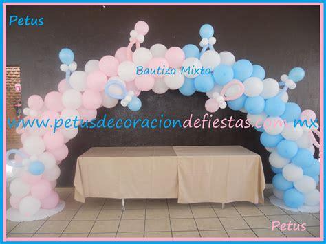 Decoracion De Baby Shower Niño by Arco De Globos Mixto Para Bautizo De Ni 241 A Y Ni 241 O