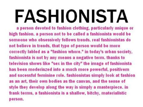what is the origin of the word what is a fashionista fashion tips and news