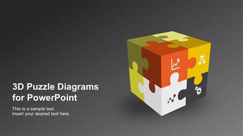 3d puzzle diagram powerpoint templates