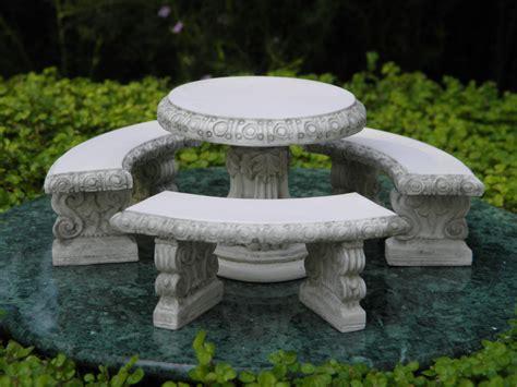 miniature dollhouse fairy garden furniture gray resin