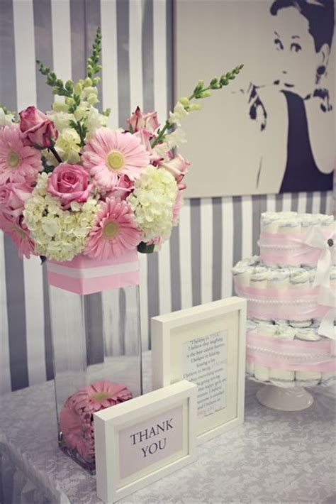 flower arrangements for girl baby shower breakfast at tiffany s baby shower party ideas flower