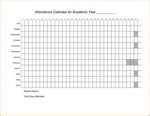 attendance calendar template doc 778895 attendance book template teachers