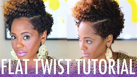 tutorial natural hair styles flat twist out tutorial for short natural hair