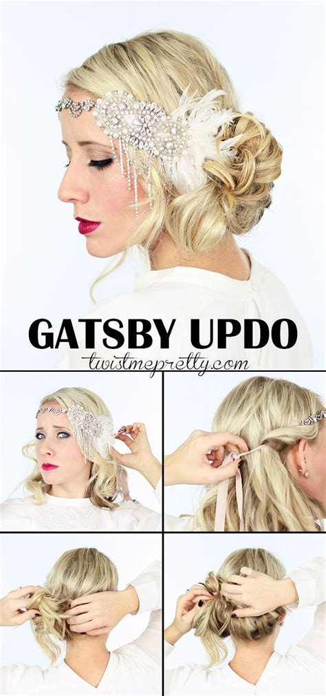 roaring 20s short hairstyle tutorial 25 best ideas about flapper hairstyles on pinterest