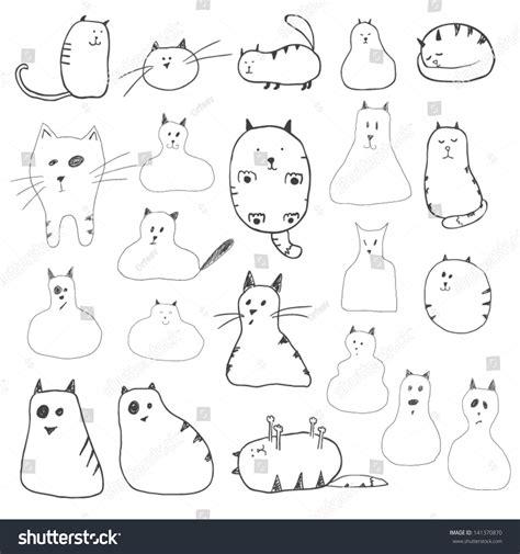free vector doodle cat cats doodles stock vector illustration 141370870