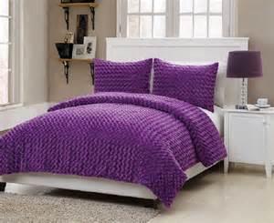 bedding fur purple comforter set