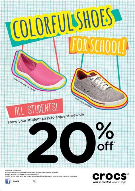 Crocs Gift Card Discount - crocs back to school sale students get 20 discount great deals singapore