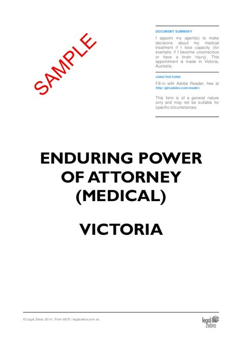 powers of attorney act 1971 section 10 enduring power of attorney medical victoria sle
