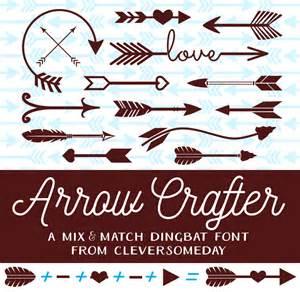 arrow crafter font dafont com