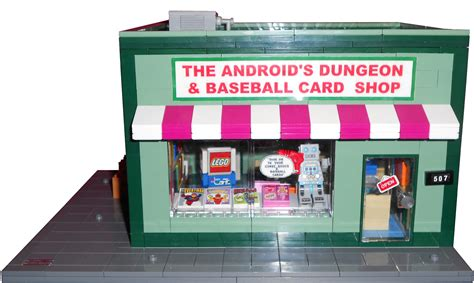 android s dungeon lego ideas the simpsons the android s dungeon and baseball card shop with station wagon of