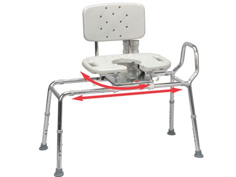 sliding shower bath transfer bench chair w swivel seat