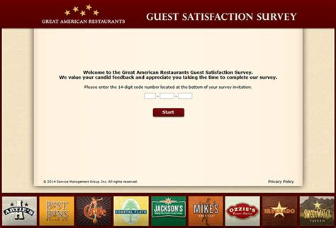 Great American Restaurants Gift Card - www garlistens com great american restaurants guest satisfaction survey
