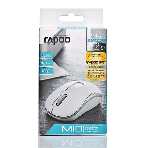 Wireless 2 4g Optical Mouse White rapoo m10 wireless optical mouse white
