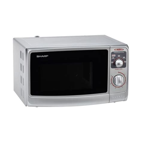 Microwave Oven Sharp R 222y jual sharp r 222y silver microwave harga
