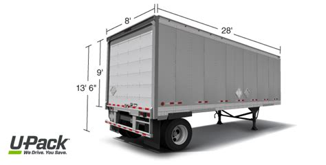 floor length of typical 3 trailer u pack trailer size and capacity u pack