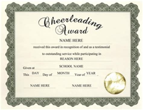 cheerleading certificate templates free free templates for high school award templates geographics