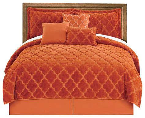 Burnt Orange King Comforter Sets by Burnt Orange Bedding Sets Home Design Architecture