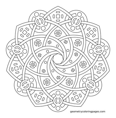 hard kaleidoscope coloring pages complex geometric coloring pages coloring home