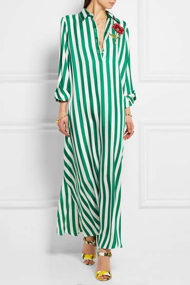 Termurah Dolice Stripe Blouse dolce gabbana appliqu 233 d striped silk satin maxi dress net a porter