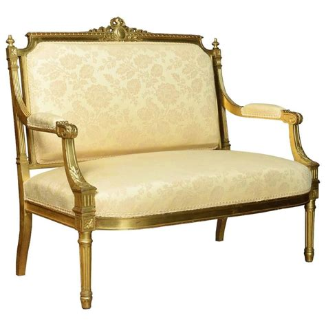 french settee for sale french louis xvi style giltwood two seat settee for sale