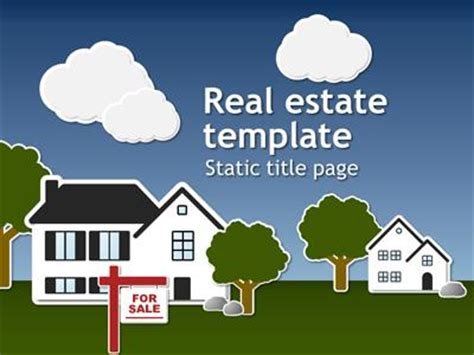 real estate template a animated powerpoint template from