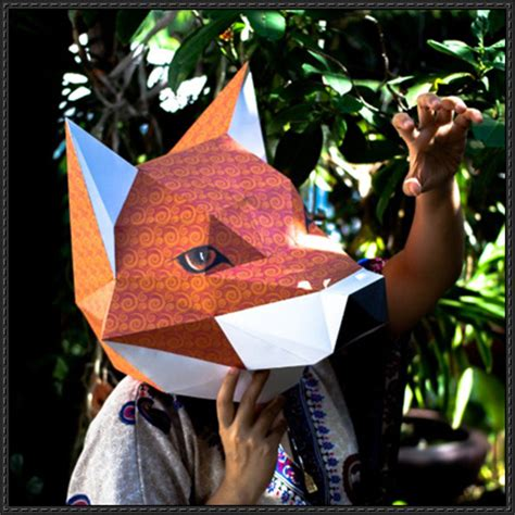 Papercraft Fox - papercraftsquare new paper craft fox mask