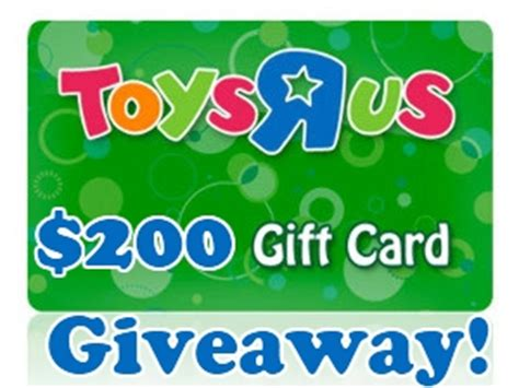How Long Are Toys R Us Gift Cards Valid For - 200 toys r us gift card giveaway 8 25