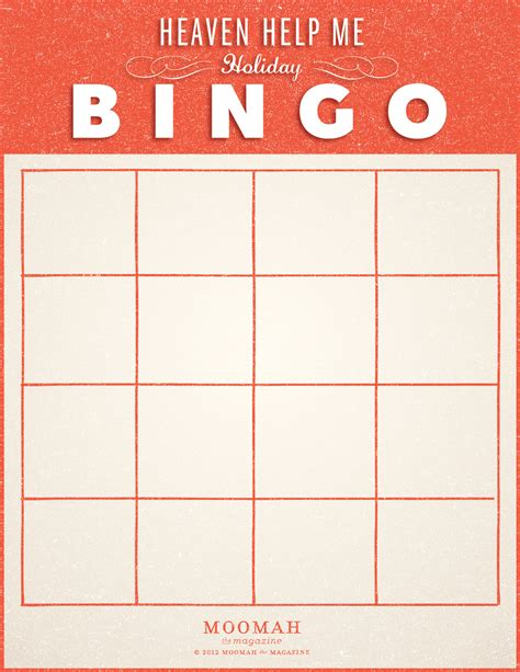 make your own bingo cards template blank bingocard 点力图库