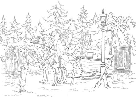 free coloring pages of lion witch and wardrobe
