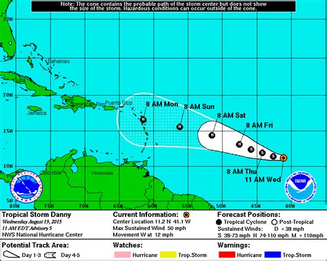 2015 projected path hurricane danny tropical storm danny the wheeler agency