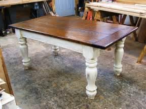 Oak Farmhouse Kitchen Table Custom Oak Wood Farmhouse Table By Hawley S Woodworking Custommade