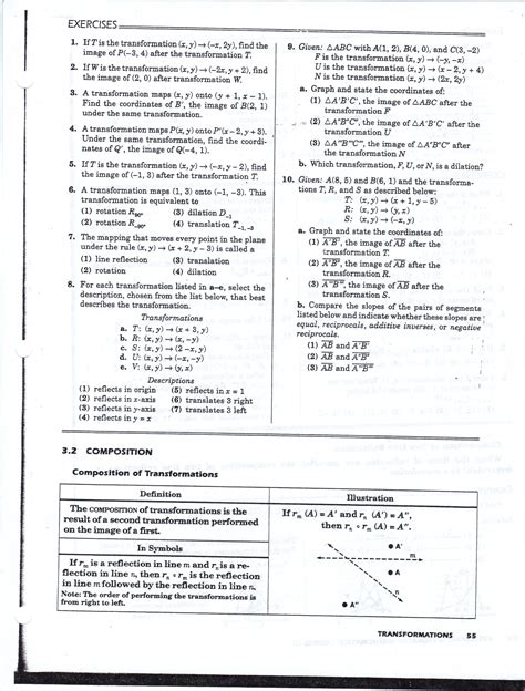 transformation geometry worksheets doc a level maths